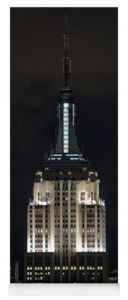Empire State Building At Night Yoga Mat