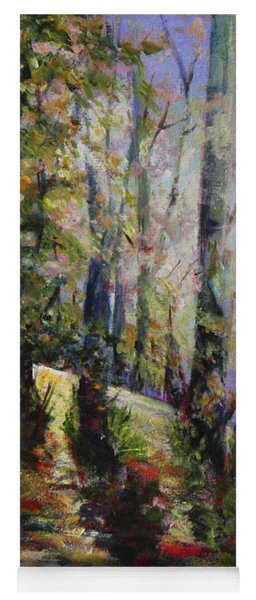Yoga Mat featuring the painting Enchanted Forest by Sher Nasser