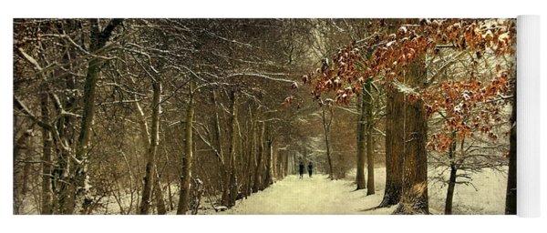 Enchanting Dutch Winter Landscape Yoga Mat
