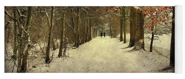 Enchanting Dutch Winter Landscape Yoga Mat