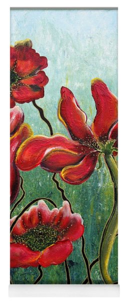 Endless Poppy Love Yoga Mat