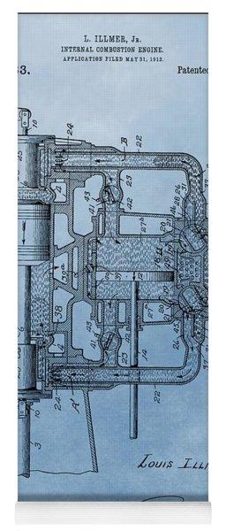 Engine Patent Blue Yoga Mat