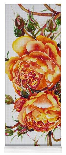 English Roses Yoga Mat