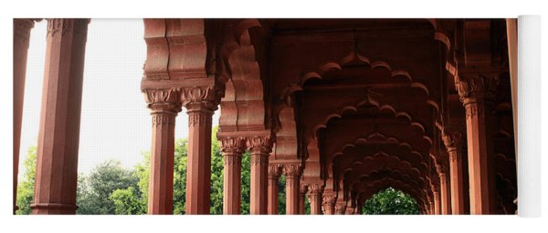 Engrailed Arches, Red Fort, New Delhi Yoga Mat