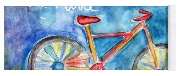 Enjoy The Ride- Colorful Bike Painting Yoga Mat