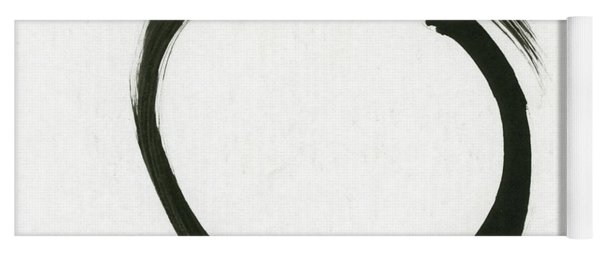 Enso #1 - Zen Circle Minimalistic Black And White Yoga Mat