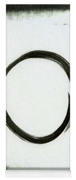 Enso #2 - Zen Circle Abstract Black And Red Yoga Mat