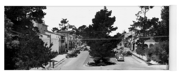 Entering Carmel By The Sea Calif. Circa 1945 Yoga Mat