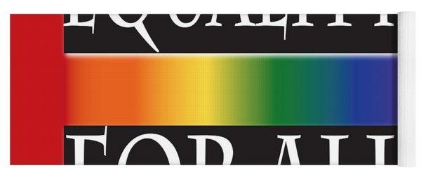 Equality Rainbow Yoga Mat