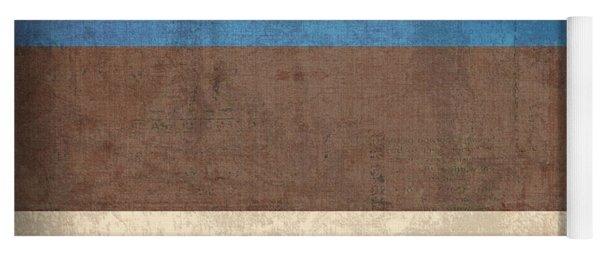 Estonia Flag Vintage Distressed Finish Yoga Mat