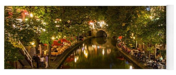 Yoga Mat featuring the photograph Evening Canal Dinner by John Wadleigh