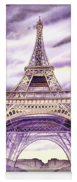 Evening In Paris A Walk To The Eiffel Tower Yoga Mat