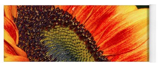 Evening Sun Sunflower Yoga Mat