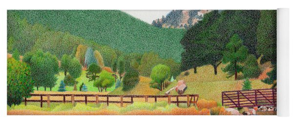 Evergreen Lake Spring Yoga Mat