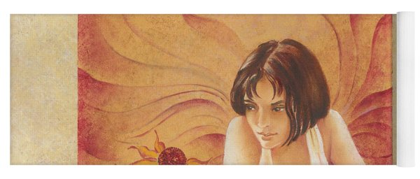 Everyday Angel With Flower Yoga Mat