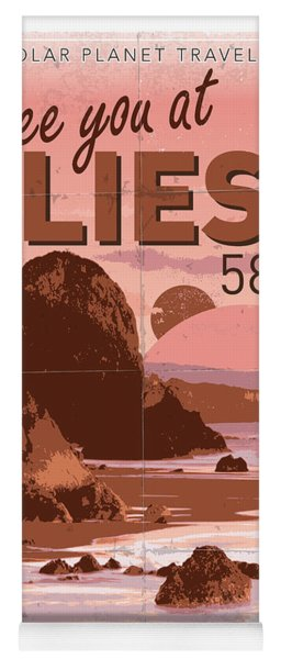 Exoplanet 01 Travel Poster Gliese 581 Yoga Mat