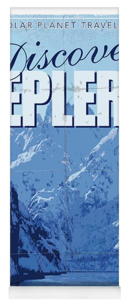 Exoplanet 02 Travel Poster Kepler 22b Yoga Mat