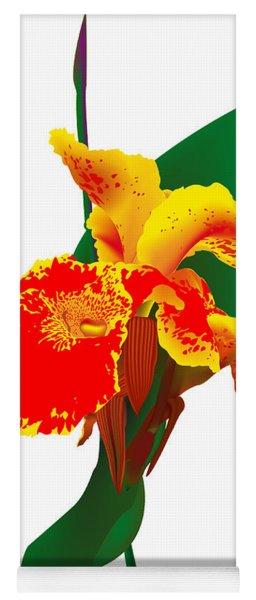 Exotic Flower Yoga Mat
