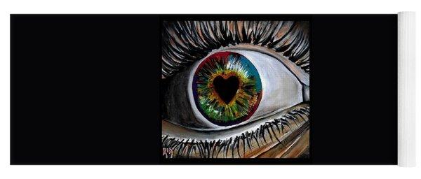 Eye Love You Yoga Mat