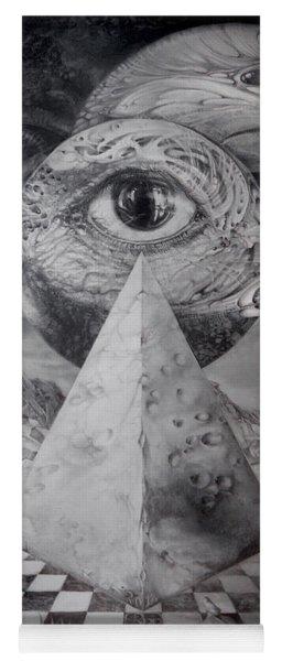 Eye Of The Dark Star - Journey Through The Wormhole Yoga Mat