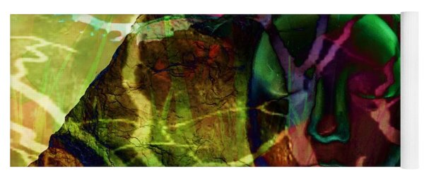Face In The Rock Moon Glow And Night Vision Yoga Mat