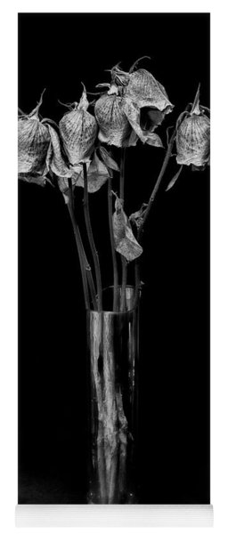 Yoga Mat featuring the photograph Faded Long Stems - Bw by Christopher Holmes