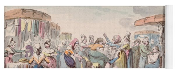 Fair During The Period Of The French Revolution, C.1789 Wc On Paper Yoga Mat