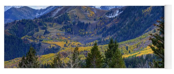 Fall At Cascade Peak And Sundance From Alpine Loop  Yoga Mat