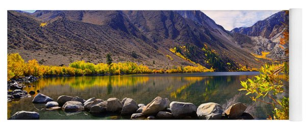 Fall Colors At Convict Lake  Yoga Mat