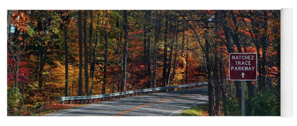 Fall Drive In Tennessee  1 Yoga Mat