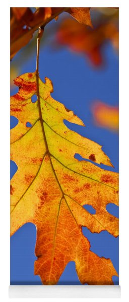 Fall Oak Leaf Yoga Mat