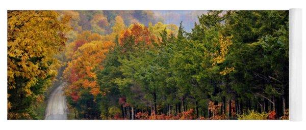Fall On Fox Hollow Road Yoga Mat