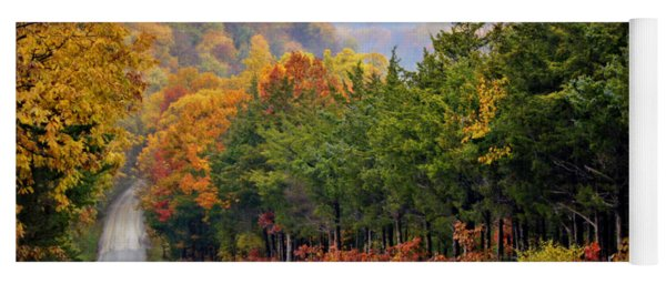 Fall On Fox Hollow Road Yoga Mat