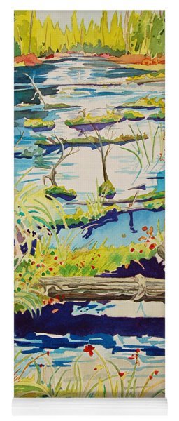 Fall River Scene Yoga Mat