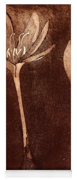 Fall Time - Autumn Crocus Meadow Safran Yoga Mat