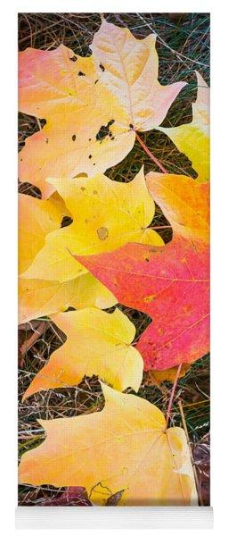 Fallen Leaves Yoga Mat