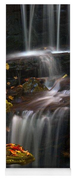 Falls And Fall Leaves Yoga Mat