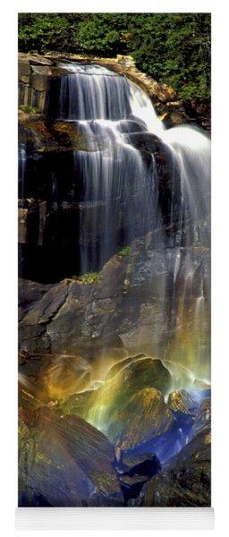 Falls And Rainbow Yoga Mat