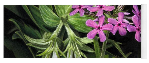 False Gromwell With Prairie Phlox Yoga Mat