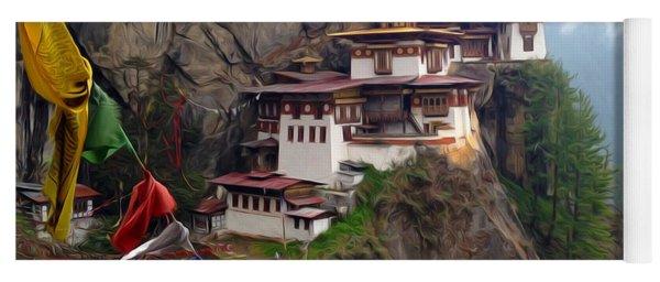 Famous Tigers Nest Monastery Of Bhutan 10 Yoga Mat