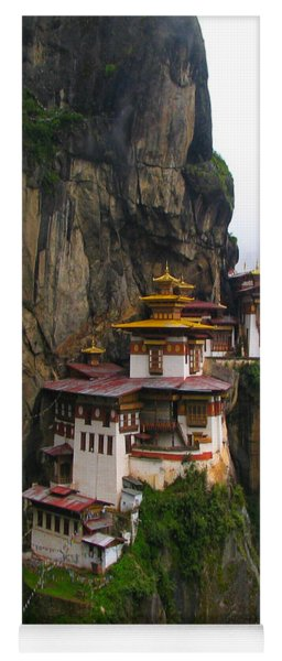Famous Tigers Nest Monastery Of Bhutan Yoga Mat