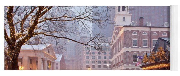Faneuil Hall In Snow Yoga Mat