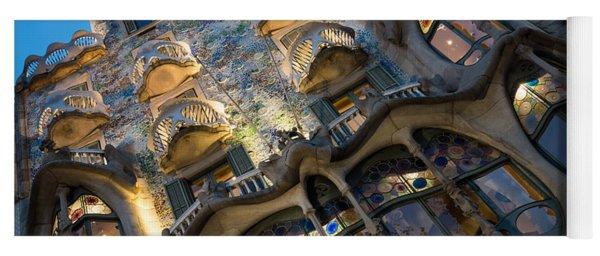 Fantastical Casa Batllo - Antoni Gaudi Barcelona Yoga Mat