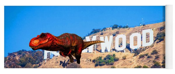 Fantasy - T Rex Escape From Hollywood Yoga Mat
