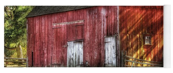 Farm - Barn - The Old Red Barn Yoga Mat
