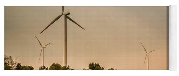 Farms And Windmills Yoga Mat