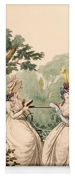 Fashion Plate Of Ladies In Summer Day Yoga Mat