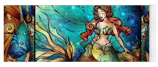 The Serene Siren Triptych Yoga Mat