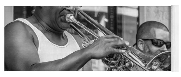 Feel It - New Orleans Jazz Bw  Yoga Mat