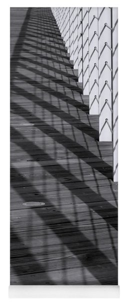 Fence And Shadows Yoga Mat